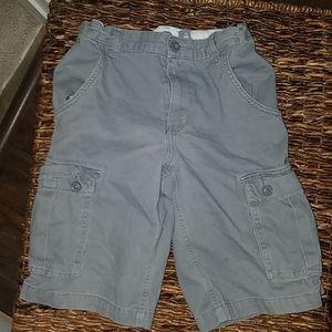 Old navy gray cargo shorts size 12